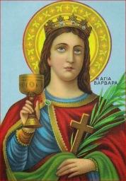 ቅድስት በርበራ (Saint Barbara) በባይዛታየን ቤተክርስቲያን አሣሣል የተሣለ
